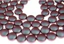 Perle Swarovski disc, iridescent red, 12mm - x4