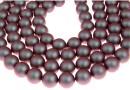 Perle Swarovski cu un orificiu, iridescent red, 8mm - x2