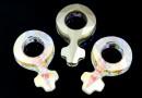 Swarovski, fancy pendant, simbol feminin, aurore boreale, 18mm - x1