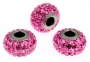 Swarovski, becharmed pave rose, 15mm - x1