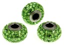 Swarovski, becharmed pave peridot, 15mm - x1