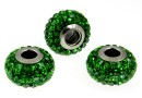 Swarovski, becharmed pave dark moss green, 15mm - x1