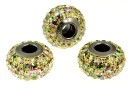 Swarovski, becharmed pave luminous green, 15mm - x1