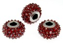 Swarovski, becharmed pave red magma, 15.5mm - x1
