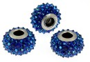 Swarovski, becharmed pave bermuda blue, 15.5mm - x1