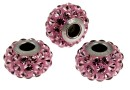 Swarovski, becharmed pave antique pink, 15mm - x1