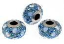 Swarovski, becharmed pave blue shade, 14.5mm - x1