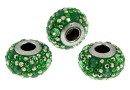 Swarovski, becharmed pave peridot, 14.5mm - x1