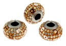 Swarovski, becharmed pave topaz, 14.5mm - x1