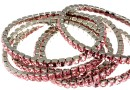 Bratara Swarovski 4428 light rose 5mm, placata cu rodiu, 18cm - x1