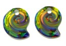 Swarovski, pandantiv Sea snail, vitrail medium, 14mm - x1
