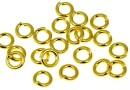 Zale nesudate argint 925 placat cu aur, 5.5x1.2mm - x5