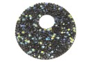 Swarovski, pand. fine rocks, black crystal AB, 40mm - x1