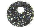 Swarovski, pand. fine rocks, black crystal AB, 40mm - x1
