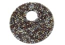 Swarovski, pand. fine rocks, black red magma met. gold, 40mm - x1
