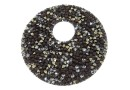 Swarovski, pand. fine rocks, black peach gold, 40mm - x1