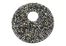 Swarovski, pand. fine rocks, black gold. shadow met. gold, 40mm - x1