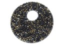 Swarovski, pand. fine rocks, black jet nut, 40mm - x1