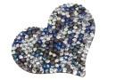 Swarovski, pand. rocks, black jet berm. blue comet arg. light, 50mm - x1