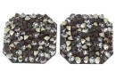 Swarovski, pand. fine rocks, black peach gold, 22mm - x1