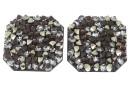 Swarovski, pand. fine rocks, black peach gold, 22mm - x1