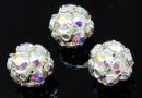 Swarovski, montees disco ball pl. cu arg, aurore boreale, 8mm - x1