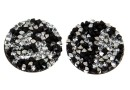 Swarovski, cabochon f. rocks, black jet comet argent light, 19.5mm - x1