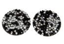 Swarovski, cabochon f. rocks, black jet comet argent light, 19.5mm - x1