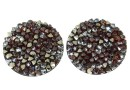 Swarovski, cabochon f. rocks, red magma met. gold, 19.5mm - x1