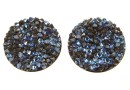 Swarovski, cabochon f. rocks, black moonlight, 19.5mm - x1