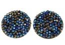 Swarovski, cabochon f. rocks, black bermuda blue, 19.5mm - x1
