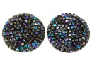 Swarovski, cabochon f. rocks, black paradise shine, 19.5mm - x1