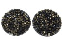 Swarovski, cabochon f. rocks, black jet nut, 19.5mm - x1