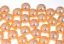 Perle Swarovski cu un orificiu, peach, 10mm - x2