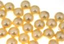 Perle Swarovski cu un orificiu, light gold, 10mm - x2