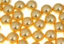 Perle Swarovski cu un orificiu, gold, 10mm - x2