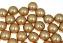 Perle Swarovski cu un orificiu, vintage gold, 12mm - x2