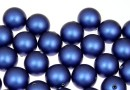 Perle Swarovski cu un orificiu, iridescent dark blue, 8mm - x2