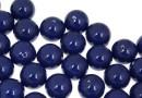 Perle Swarovski cu un orificiu, dark lapis pearl, 10mm - x2