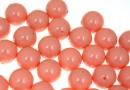 Perle Swarovski cu un orificiu, pink coral pearl, 12mm - x2