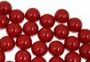 Perle Swarovski cu un orificiu, red coral pearl, 12mm - x2