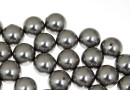 Perle Swarovski cu un orificiu, grey, 10mm - x2