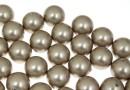 Perle Swarovski cu un orificiu, platinum, 12mm - x2