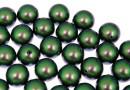 Perle Swarovski cu un orificiu, scarabaeus green, 8mm - x2