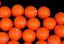 Perle Swarovski cu un orificiu, neon orange, 12mm - x2