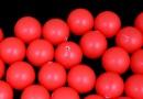 Perle Swarovski cu un orificiu, neon red, 10mm - x2