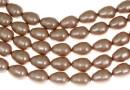 Margele Swarovski perle picatura, powder almond, 11x8mm - x2