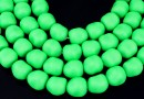 Margele Swarovski perle candy, neon green, 10mm - x2