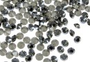 Swarovski, chaton pp21, black diamond satin, 2.8mm - x20