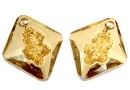 Swarovski, pand.growing rhombus, golden shadow, 26mm - x1